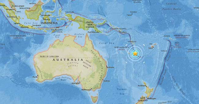 Earthquake Shakes off Australian Coast