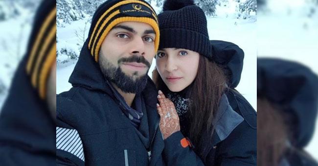 Honeymooncouple Virushka selfie doing Rounds!!