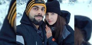 Honeymooncouple Virushka selfie