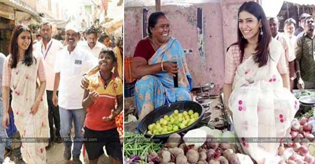Samantha Akkineni As Vegetable Vendor