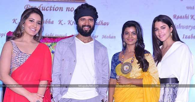 Vijay Deverakonda's New Movie Launched #Rashi Khanna