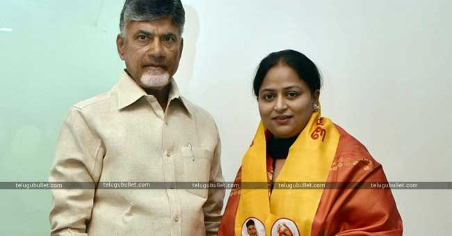 Daughter of B.com-Physics MLA joined TDP