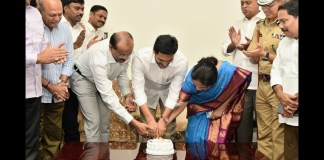 CM YS Jagan's birthday celebrations at Tadepalli camp office