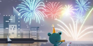 Google Ends the Decade With Fireworks Doodle