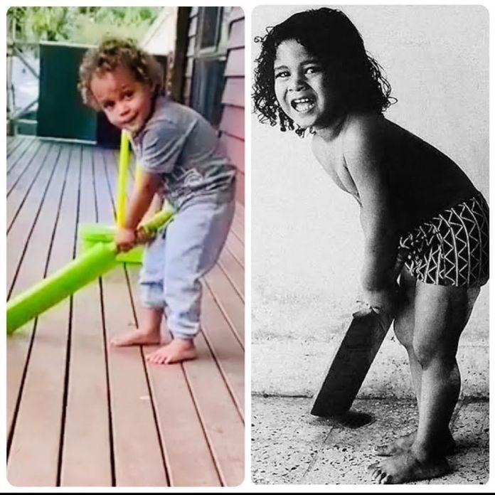 Tendulkar reminded of childhood seeing Lara's son's batting grip