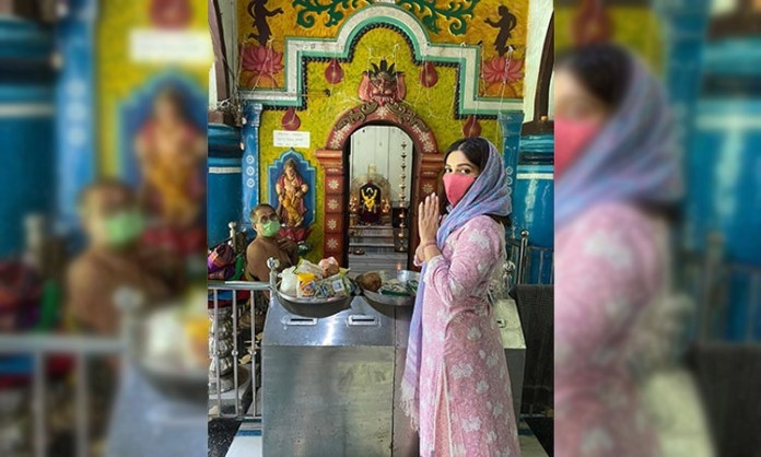 Bhumi goes on temple pilgrimage in her village in Goa