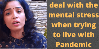 How can we deal with the mental stress when trying to live with Pandemic situation