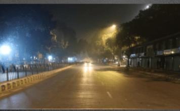 New delhi imposes night curfew