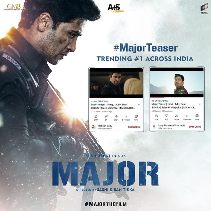 'Major' teaser receives over all 25mn views in two days