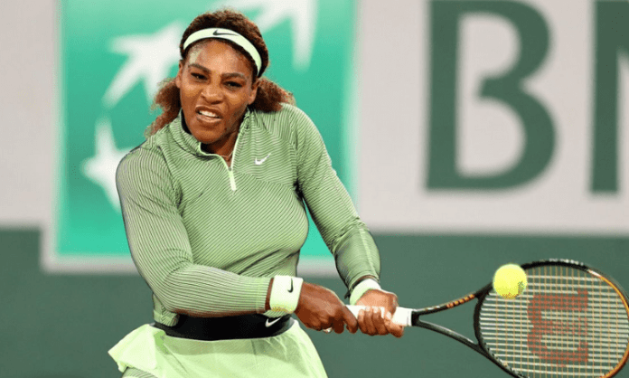 Serena happy her first serves are coming good