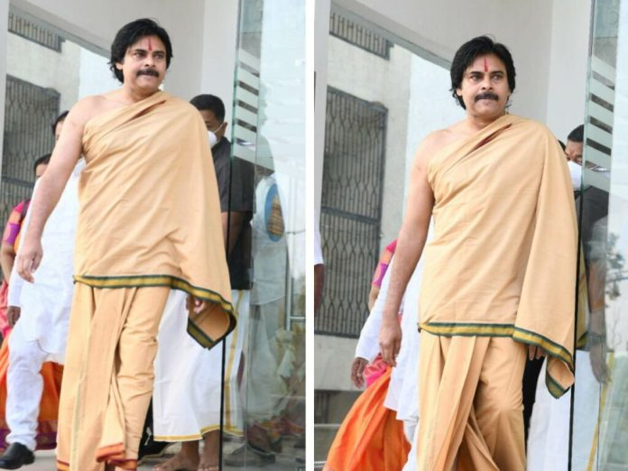 Spotted: Pawan Kalyan in a Swamy attire