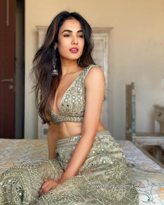 Sonal Chauhan in a Monika Nidhi outfit
