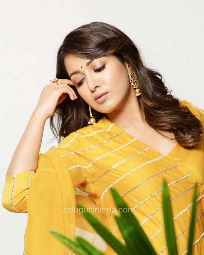 Catherine Tresa in a playful mood