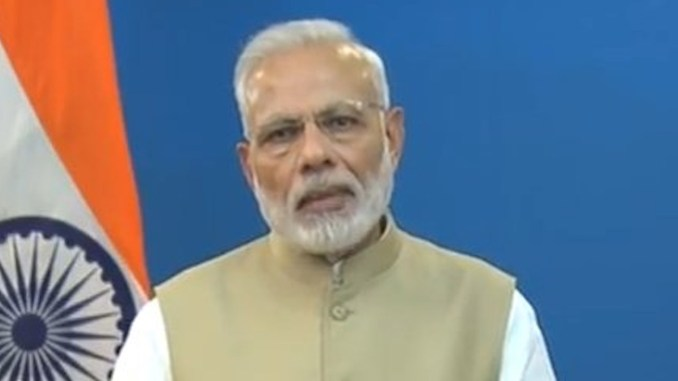 New Delhi: Prime Minister Narendra Modi addresses to the nation to announce demonetisation of Rs 1000 and Rs 500 notes with effect from midnight, making these notes invalid in a major assault on black money, fake currency and corruption in New Delhi on Nov. 8, 2016.
