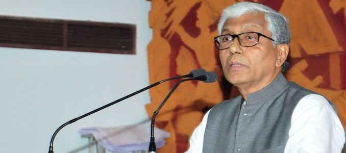 Tripura Chief Minister and CPI(M) leader Manik Sarkar.