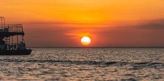 Por do Sol em Alter do Chão, uma das cenas mais exuberantes do Pará