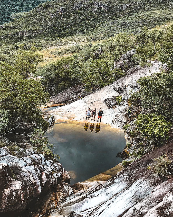 Cachoeira do Abismo vista de cima. Formada apenas durante os meses de chuva