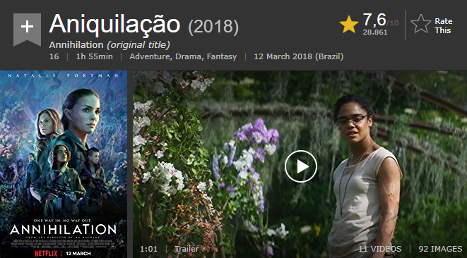 Aniquilação IMDb