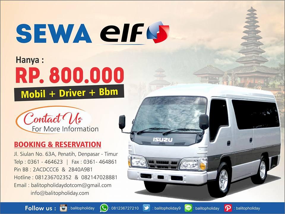 Harga Sewa Mobil di Bali , Minibus (Elf) dan Bus  Terbaru (2017)