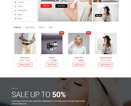 Envo Storefront ücretsiz e ticaret teması