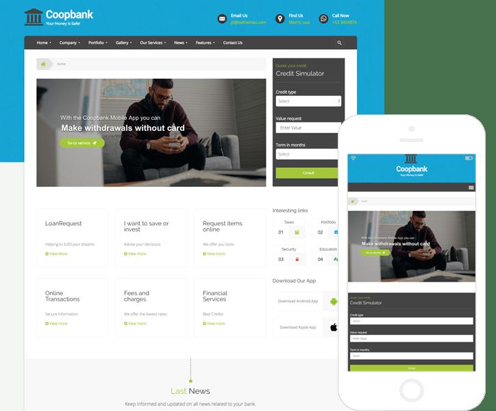 Tema WordPress de Finanzas, Bancos y Creditos | CoopBank
