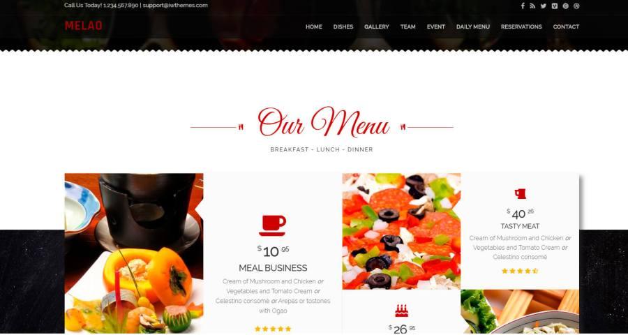Tema Html Css para Restaurantes