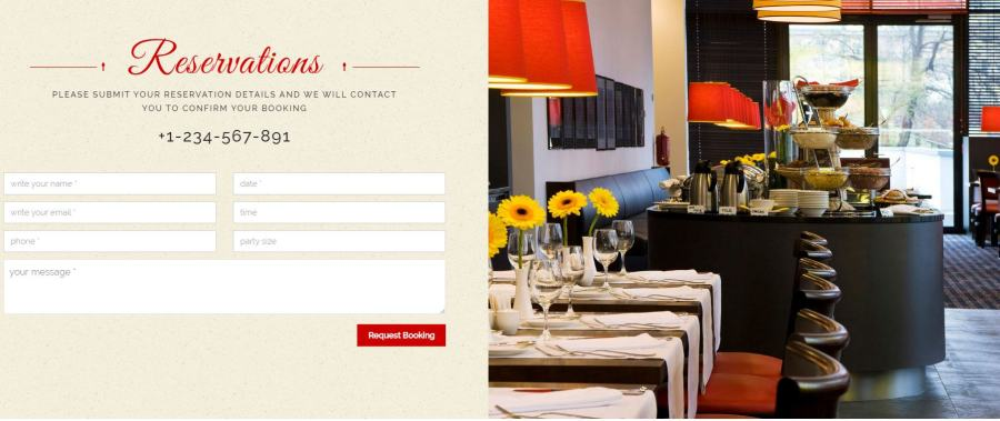 Tema Html /css para restaurantes