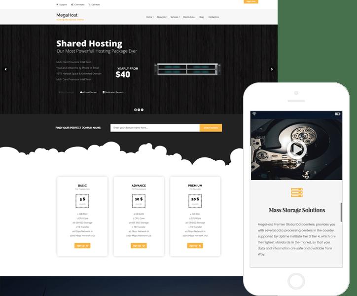 Tema WordPress de Hosting y Tecnología - MegaHost
