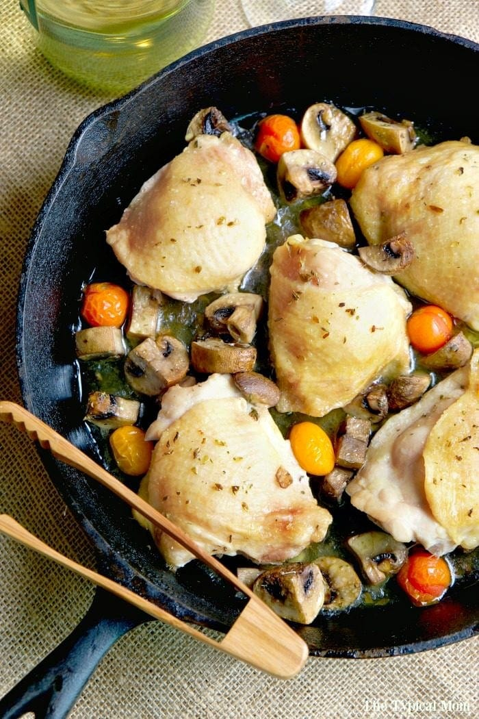 Baked bone in chicken thighs · The Typical Mom