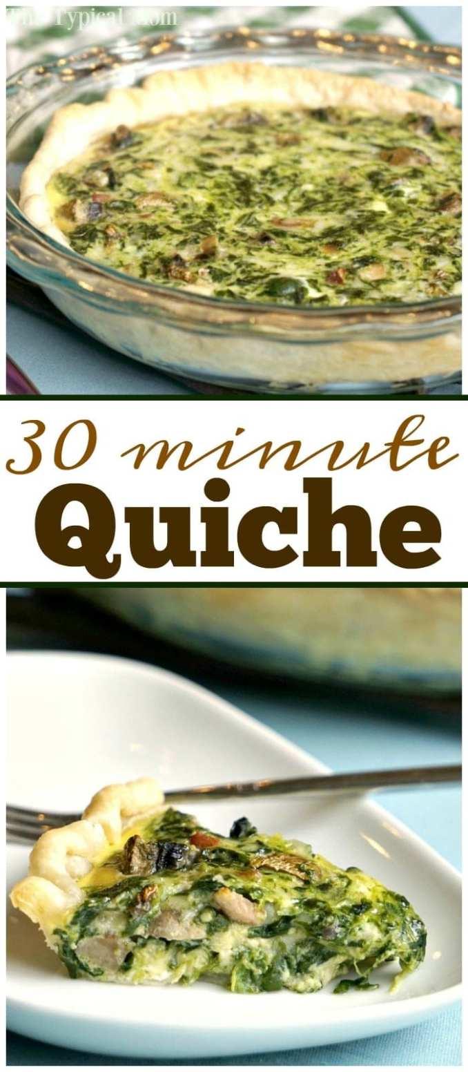 Easy Spinach Quiche Recipe · The Typical Mom
