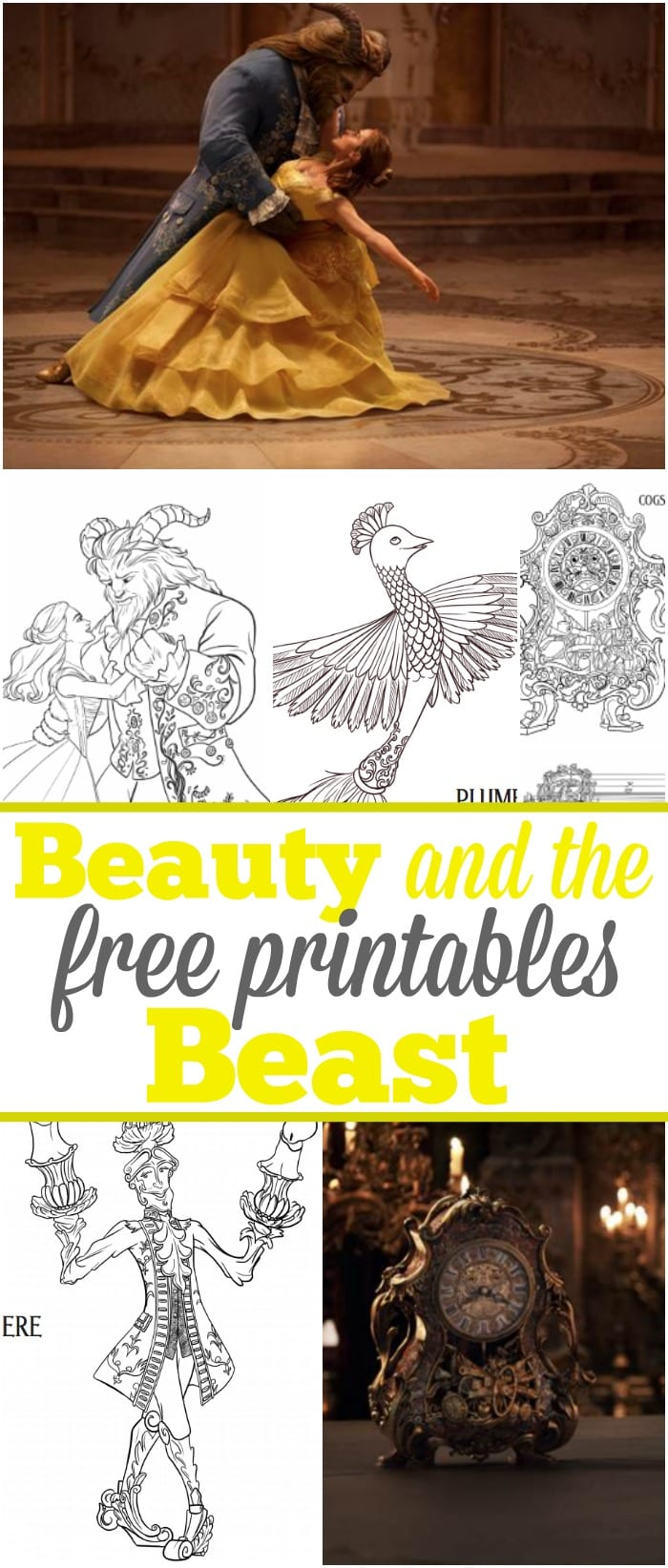 6 beauty and beast free printables typical mom, love coloring pages printable