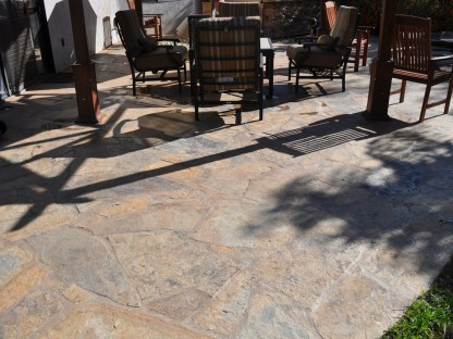 Flagstone patio in Temecula McCabe's Landscape Construction