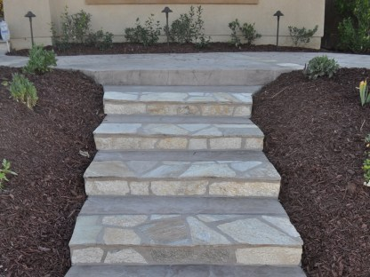 Flagstone edged steps in Temecula McCabe's Landscape Construction