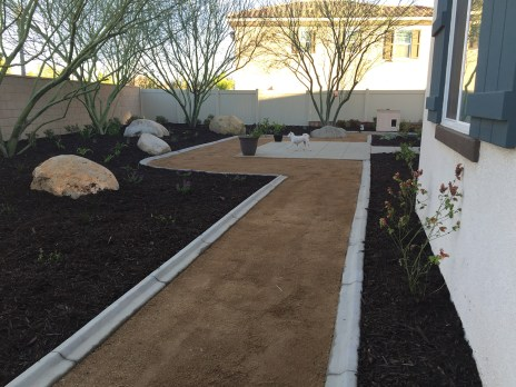 Modern residential landscape and plantings
