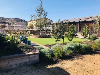 Farmhouse style landscape