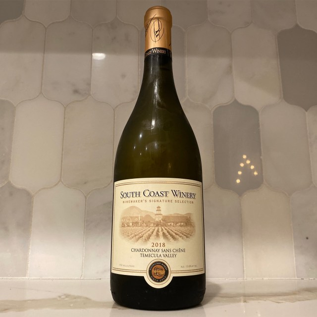 South Coast Winery 2018 Chardonnay Sans Chêne