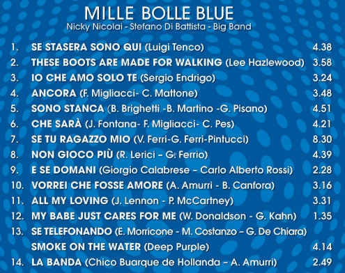 Tracklist mille bolle blu