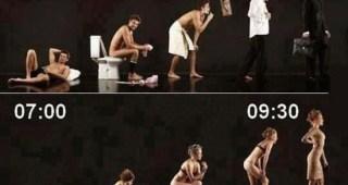 【必見】 男女の行動や心理の違いを表した9枚の画像が秀逸すぎる。