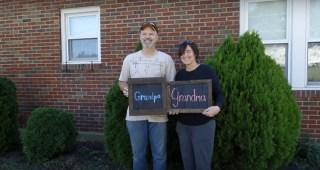 Adorable Surprise Pregnancy Announcement To Grandparents