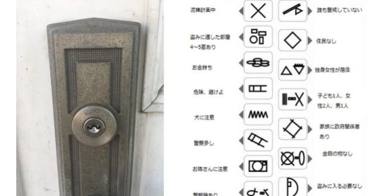 家の玄関付近に不審なXマークを発見。調べてみたら泥棒の隠しサインだった。