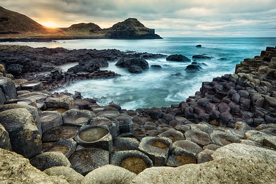 Giant's Causeway Sunset HDR