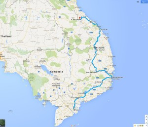 Motorcycling in Vietnam MAP1