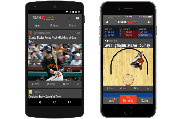 teamstream app on android and iPhone