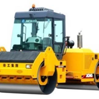 Дорожный вибрационный каток с двумя стальными вальцами и гидравлическим приводом XCMG XD123S