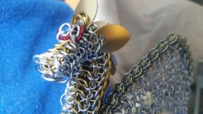 Chainmaille Dragon Face close in