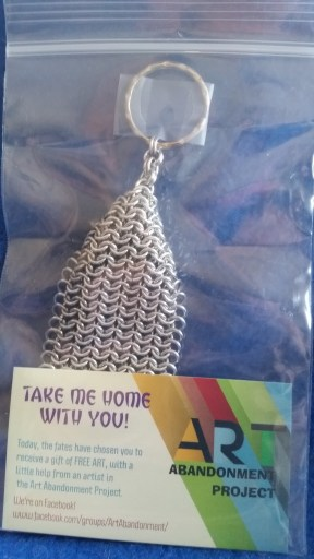 Chainmaille European 4 in 1 keychain abandoned 7.16.17