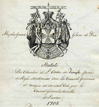 1705 Statut Wappen 1
