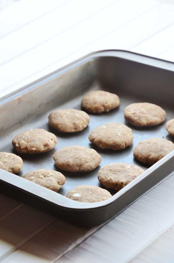 cookies na fôrma