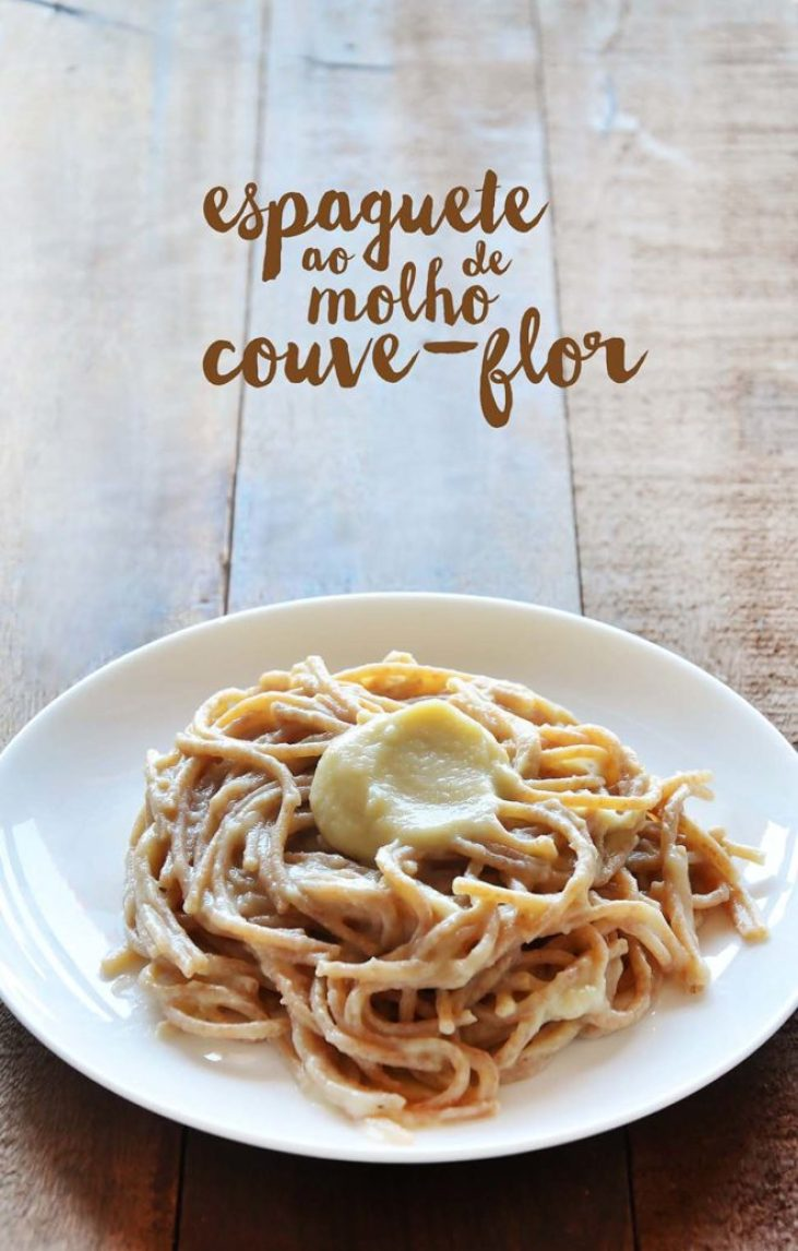 espaguette ao molho de couve-flor