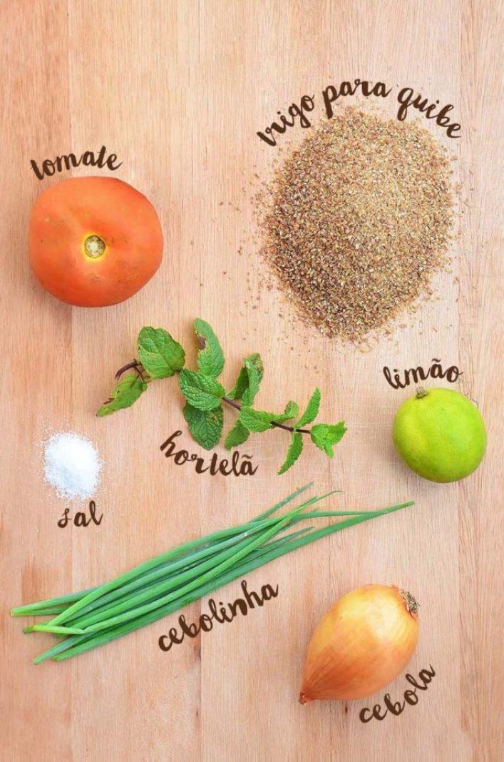 ingredientes para o tabule